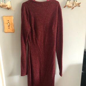 Long tight sweater dress